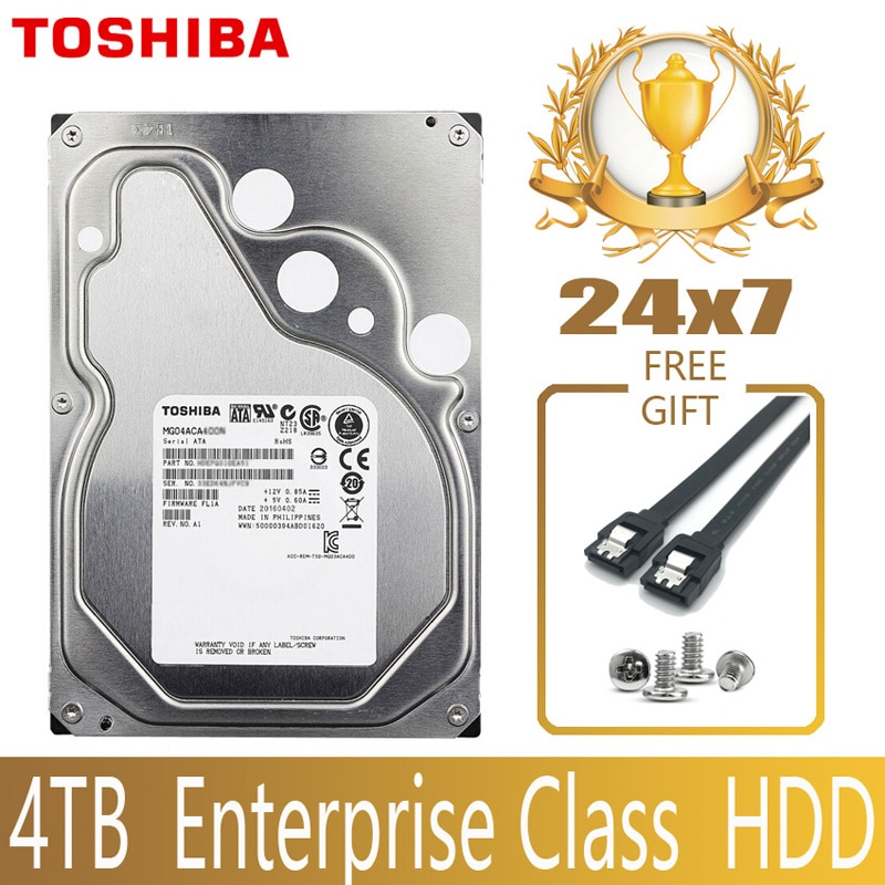"Toshiba 4 tb classe da empresa disco rígido hdd hd interno sata iii 6 gb/s 7200 rpm 128 m 3.5 ""disco rígido 24/7 24x7 gamin"