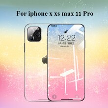 100D Protective Tempered Glass On the For iphone X XR XS 11 Pro Max glass Front screen protector For