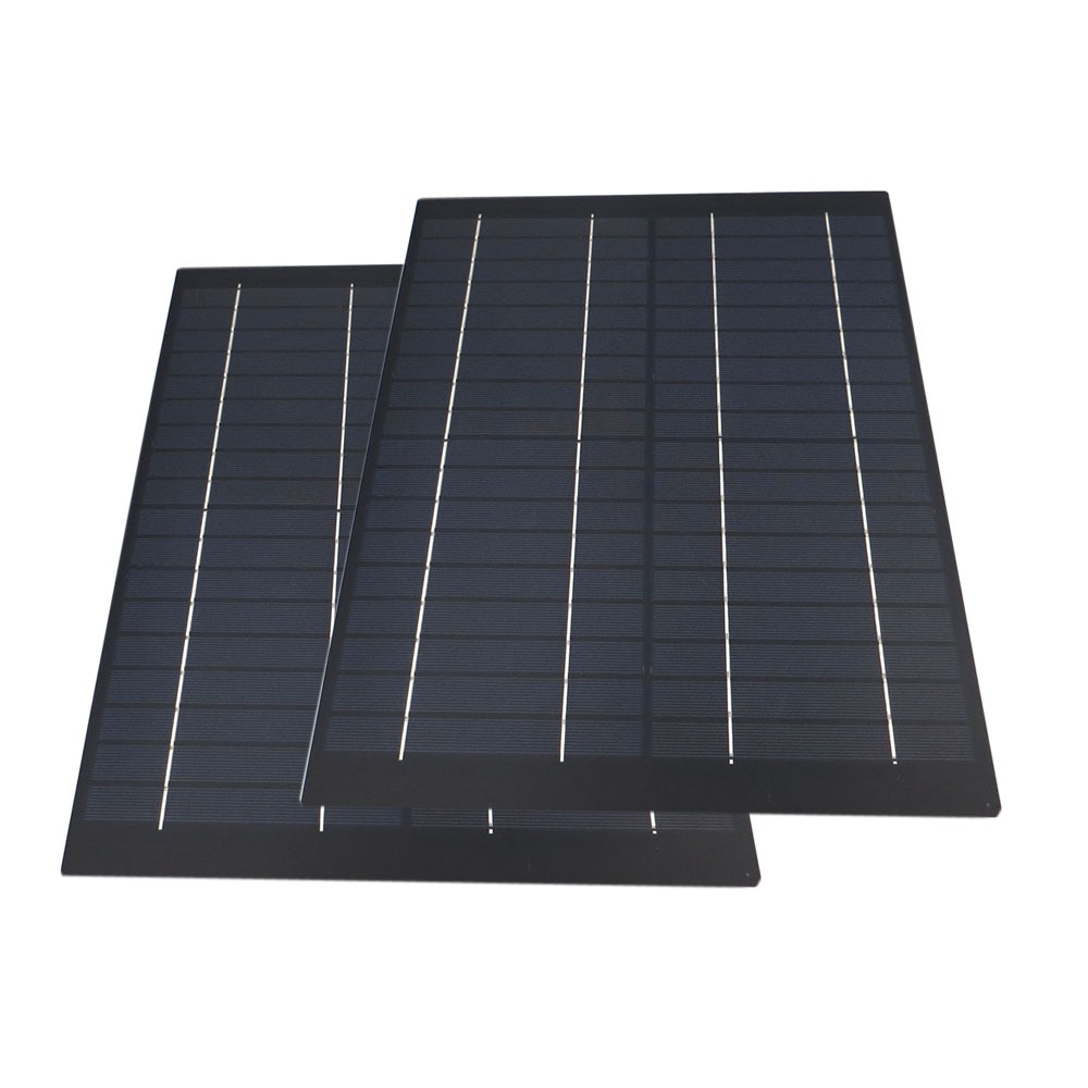2pcs/lot Solar Panel 18V 20 W Watt 1.1A Mini PET polycrystalline PV module cell charge for 12V battery Charger 20 watts W Watt