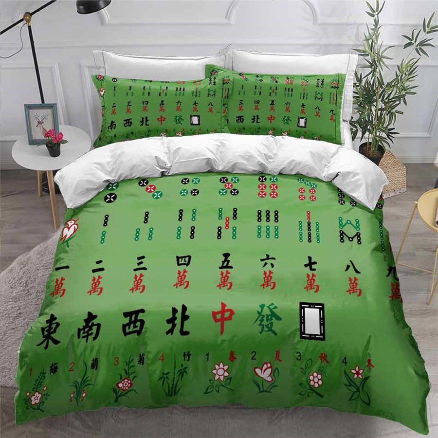 HELENGILI ثلاثية الأبعاد طقم سرير جونغ طباعة حاف مجموعة غطاء السرير مع المخدة طقم سرير المنسوجات المنزلية # MJ04