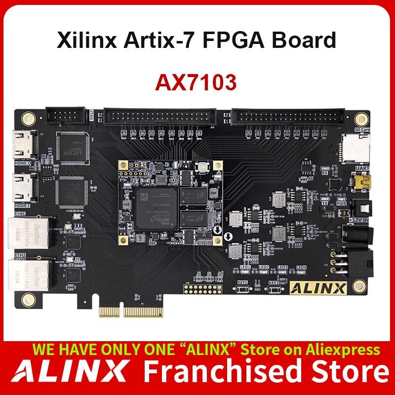 ALINX AX7103: XILINX Artix-7 XC7A100T FPGA Development Board A7 SoMs PCIe Accelerator Card