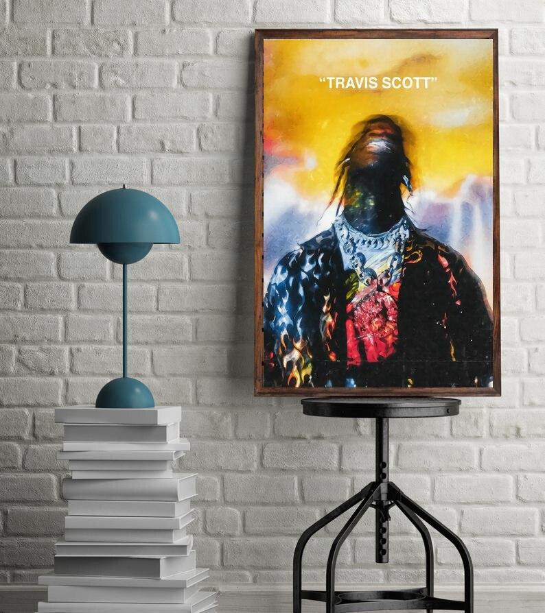 Travis Scott Astroworld Hip Hop Rap canvas poster painting Poster Wall Decor