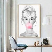 Affiche murale a bulles pour femmes  peinture sur toile  classique  Audrey Hepburn  moderne  a la mode  decoration de salon  de maison