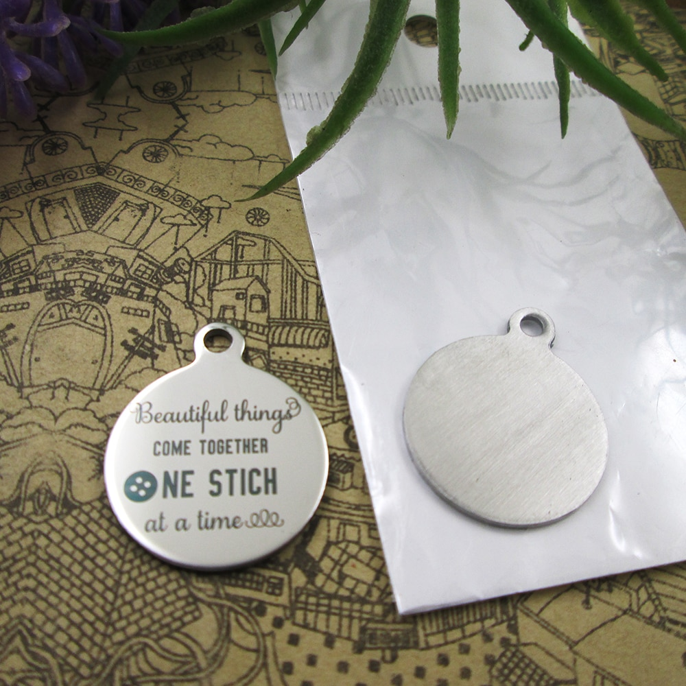 """20 pcs... """"as coisas belas vêm juntos..."""" 5 estilos para escolher DIY Encantos encantos do aço inoxidável para colar pulseiras"""
