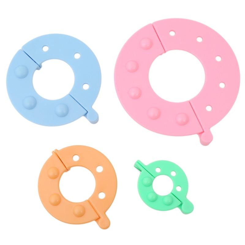 4 Sizes/Set di Plastica Pom Pom Maker Fluff Palla Tessitore Ago di Lavoro A Maglia di Lana Strumento di Lane E Filati Kit di Strumenti Strumenti di Cucito accessori