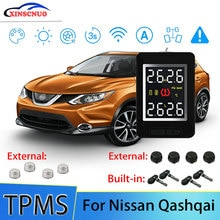 Smart Car TPMS Tire Pressure Monitor System For Nissan Qashqai With 4 Sensors Wireless Alarm Systems