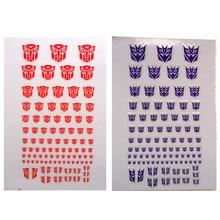 ديسيبتيكون أوتوبوتس G1 90 + رمز ملصق مائي ل مخصص كول Scene بها بنفسك المشهد اكسسوارات 0.6*0.6-1.5*1.5 سنتيمتر الديكور الاطفال الهدايا