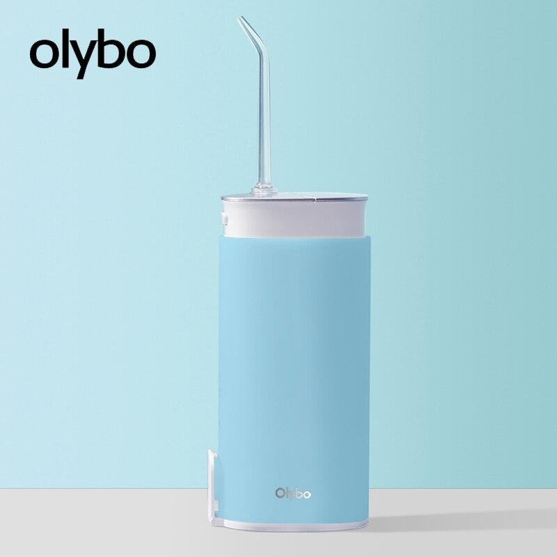 Olybo irrigador oral portátil USB recargable agua dental hilo dental irrigador para limpiar dientes chorro de agua mondadientes
