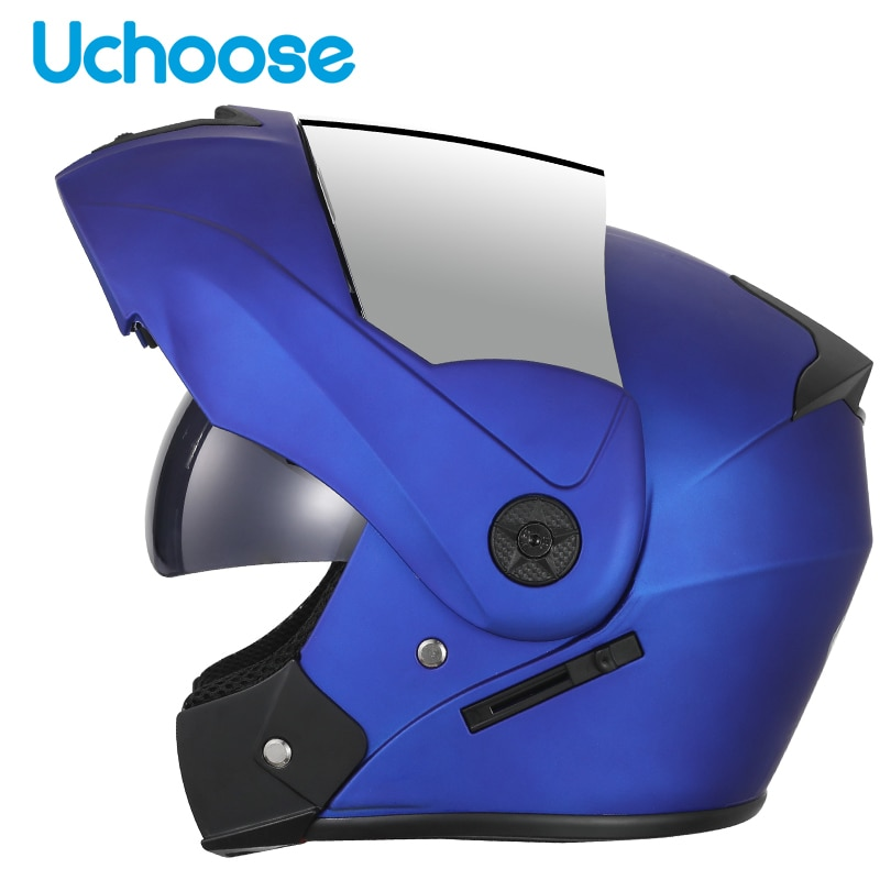 Motorcycle Flip Up Helmet Full Face Racing Motorbike Helmet Double Sun Visor Casco Moto Helmet Capacete Motocross Adult Man helmet visor for hjc rpha11 rpha70 motorcycle detachable helmet glasses motorbike helmet lens motocross full face visor