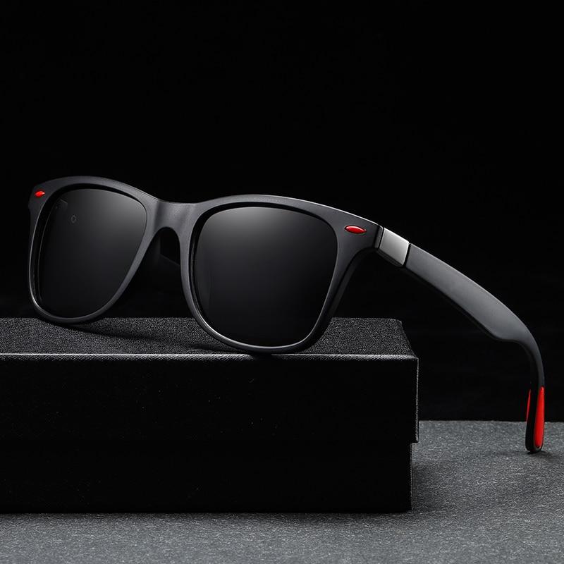 Винтажные квадратные Мужские поляризационные солнцезащитные очки, фирменный дизайн, уличное зеркало для вождения, женские ретро роскошные солнцезащитные очки UV400