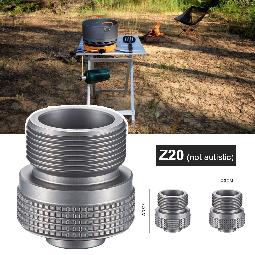 Camping Gas Stove Adapter Propane Adapter Mini Convertor Valve of Camping Gas Stove for Outside Activities Canister