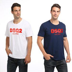 Fashion DSQ2 est.1995 Tops summer Women Men's cotton sports T-shirt Crew Neck short sleeve sweat-absorbent comfort Shirt