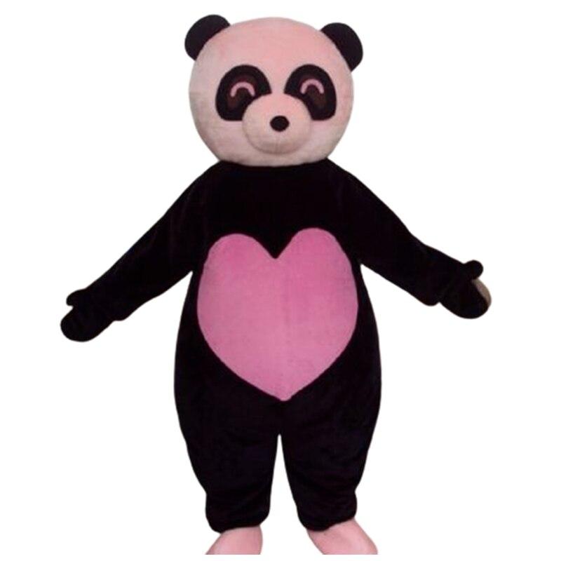 الوردي الحب الباندا الدب الكرتون شخصية حلي تأثيري التميمة مخصصة الكبار حجم تأثيري حلي