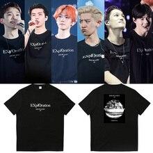 EXO camiseta planeta #5 World Tour concierto camisa Unisex Casual Camisetas cuello redondo
