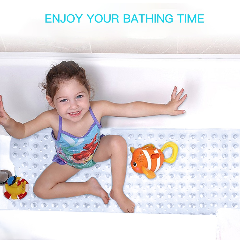 Tapetes de baño antideslizantes de masaje de 40x100cm de largo, tapetes de bañera de seguridad, alfombrilla de suelo de baño antideslizante para niños/Ancianos/discapacitados