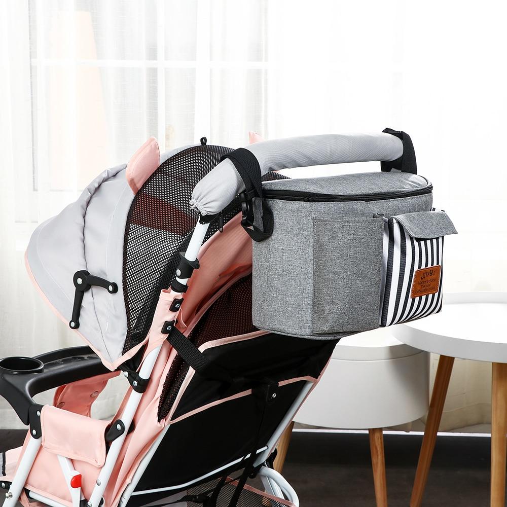 Carrinho de bebê acessórios saco de fraldas grande cinza carrinhos de bebê carrinhos de bebê pendurado garrafa titular copo yoya organizador saco de fraldas