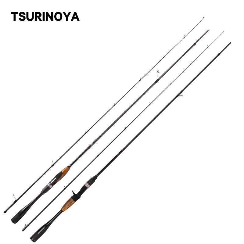 Caña de pescar TSURINOYA, 1,96 m/2,01 m L/ML, accesorios FUJI, mango de carbono ultraligero, caña de lanzamiento giratoria