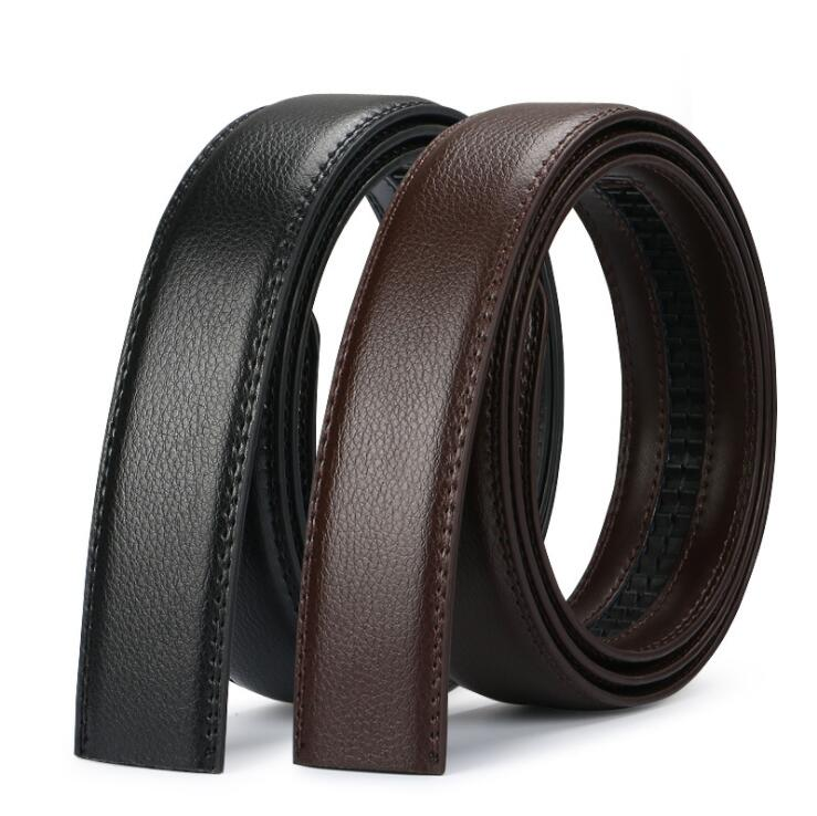 men's automatic buckle belts No Buckle Belt Brand Belt Men High Quality Male Genuine Strap Jeans Bel