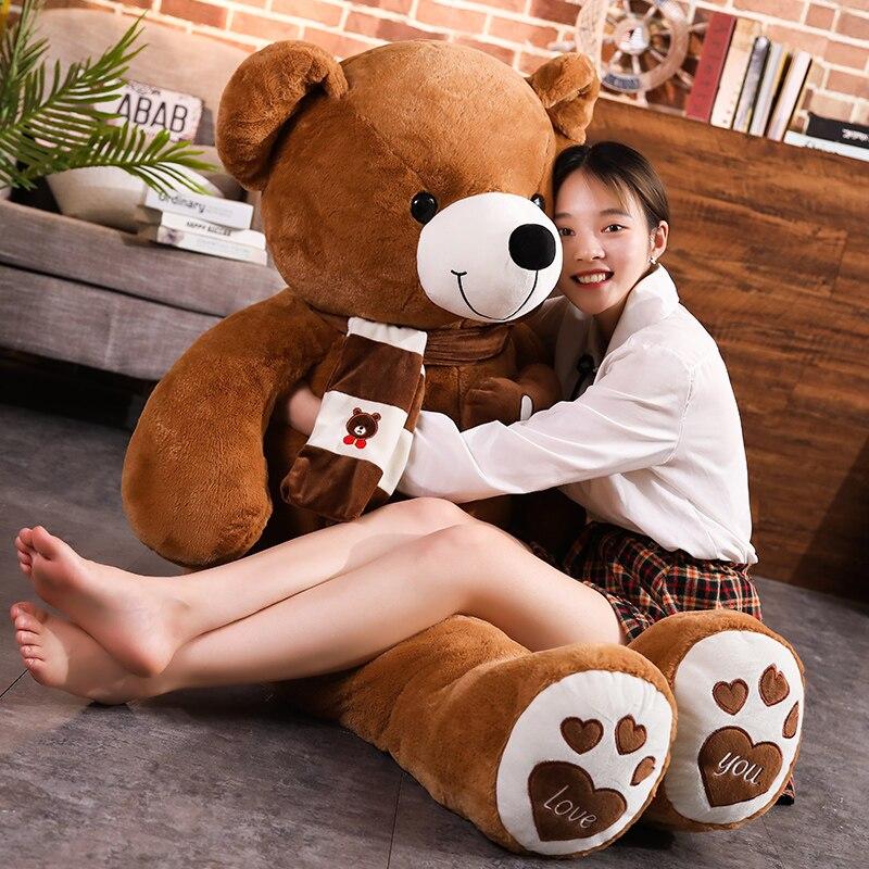 Nuevo oso de peluche de alta calidad en 4 colores con bufanda oso de peluche juguetes de peluche almohada para niños amantes regalo de cumpleaños para bebés