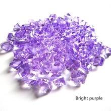 Vase de pierres précieuses cristal de glace   14 couleurs, 11x14MM 100 pièces, perles de Table éparpillées pour décor de maison fête de mariage