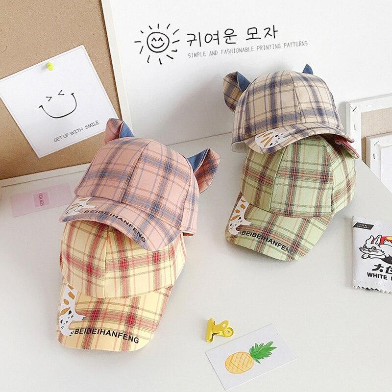 Весна 2020 новый тонкий супер милый котенок детская Корейская бейсболка версия для мальчиков и девочек; С фуражки мягкая одежда