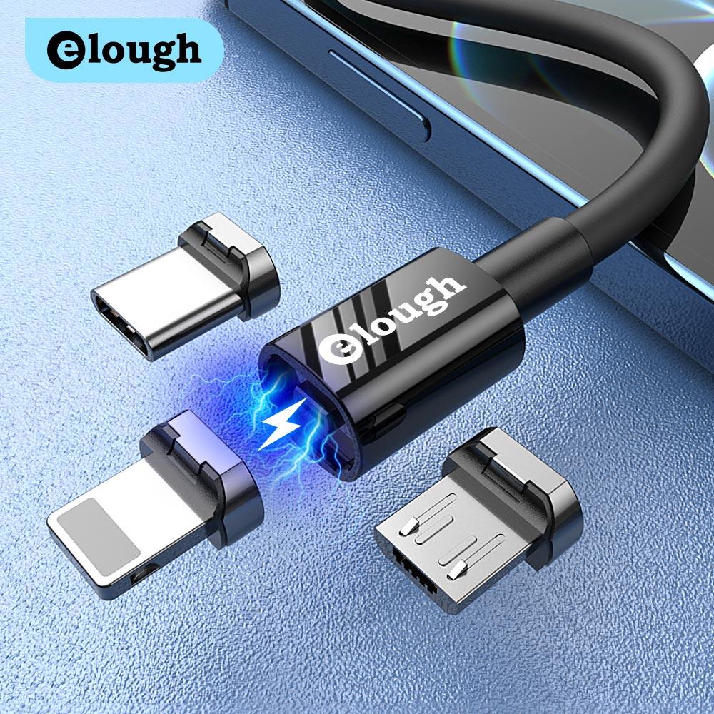 Elough-cargador de teléfono USB tipo C, Cable de carga Micro USB magnético...