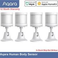 Aqara     capteur de mouvement avec support  connexion sans fil  pour maison intelligente  fonctionne avec application Mijia et Apple HomeKit