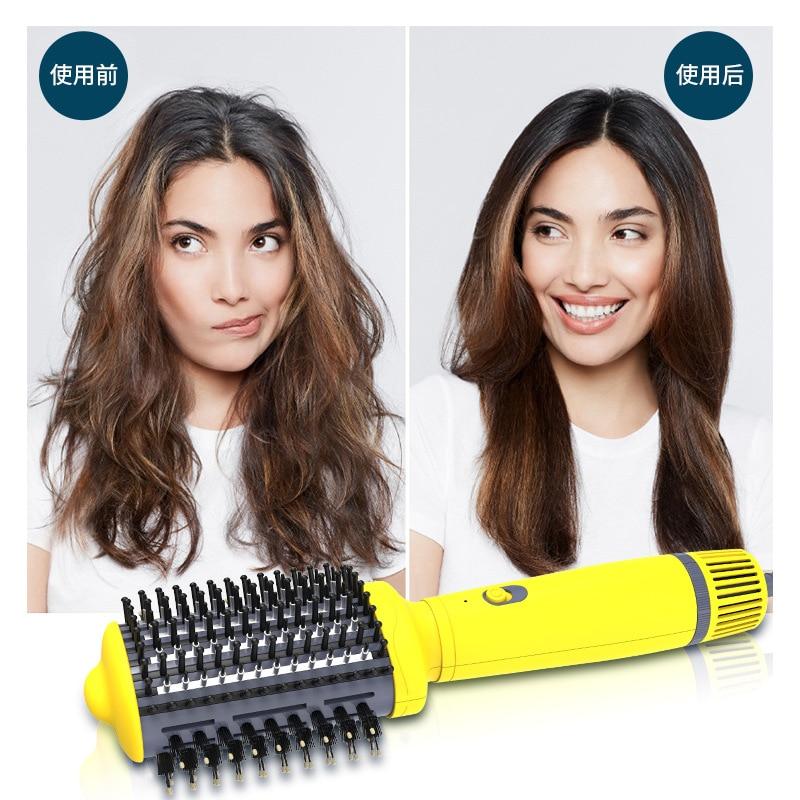 Escova secadora secador de cabelo escova de ar quente alisador pente curling salão ferramentas estilo