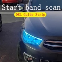 2pcs universal daytime running light car drl guide strip led strip exterior lights auto waterproof car styling led drl lamp