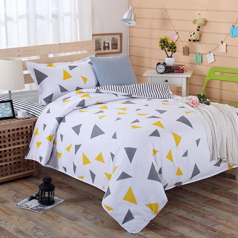 القطن ورقة لحاف 3 قطعة مجموعة من القطن الخالص 1.2 متر الفراش الكرتون الأطفال طالب عنبر نوم سرير مفرد غطاء لحاف