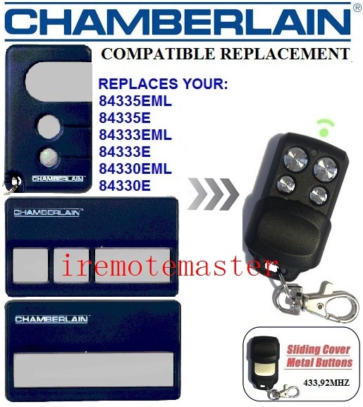 Chamberlain 84335eml, 84335e, 84333eml, 84330e repalcement garagem porta remoto muito