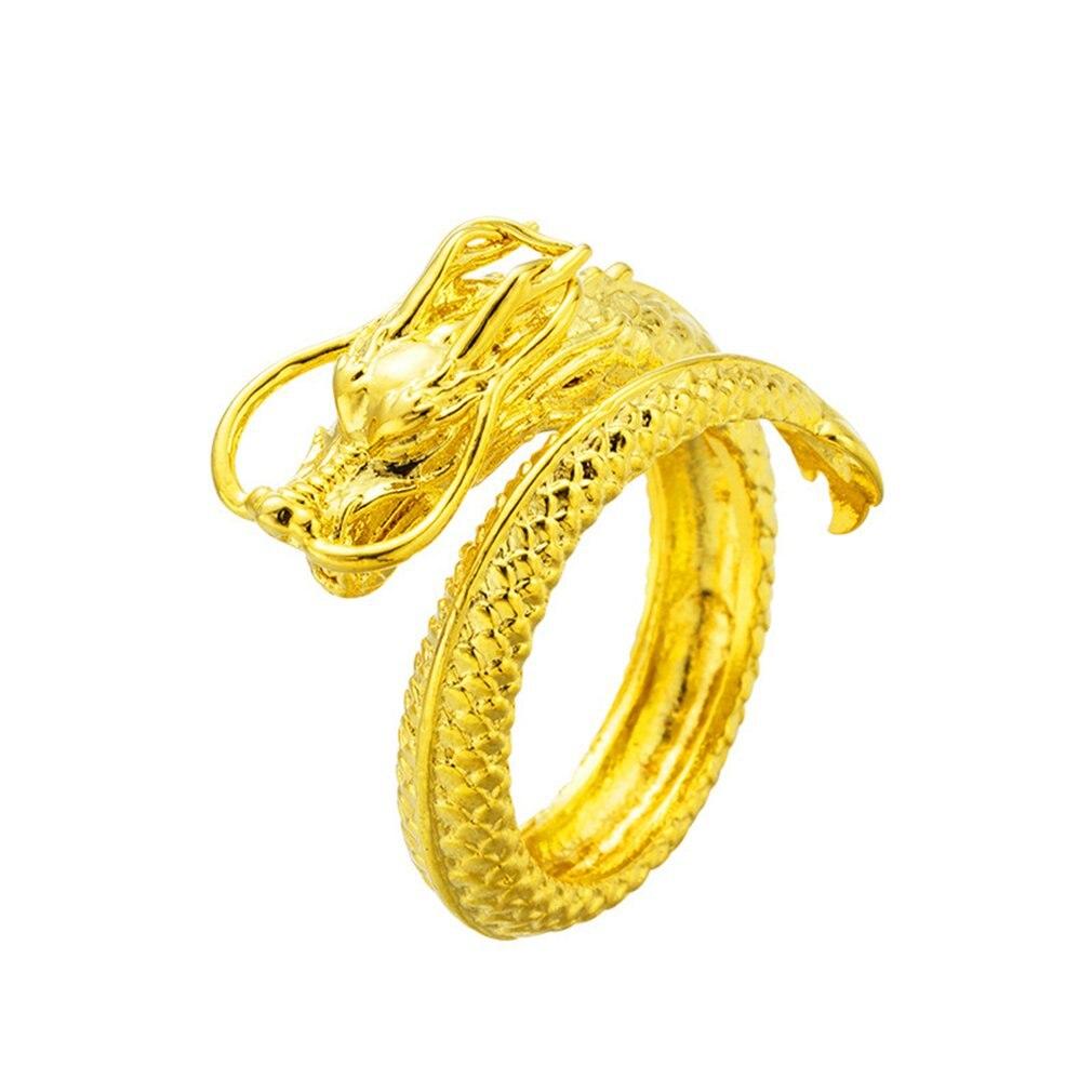 Vietnam sajin, grifo de Eletroplating en relieve, anillo de apertura dominante para hombres, revestimiento de latón, joyería de oro 24K
