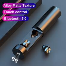 Mini Wireless Sports Headset HIFI Smart Bluetooth 5.1 Binaural Touch Charged Display Digital Bluetoo
