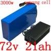 Batterie Lithium 72V 10/13/15/18/20ah pour vélo et trottinette électrique 1000/2000/3000W