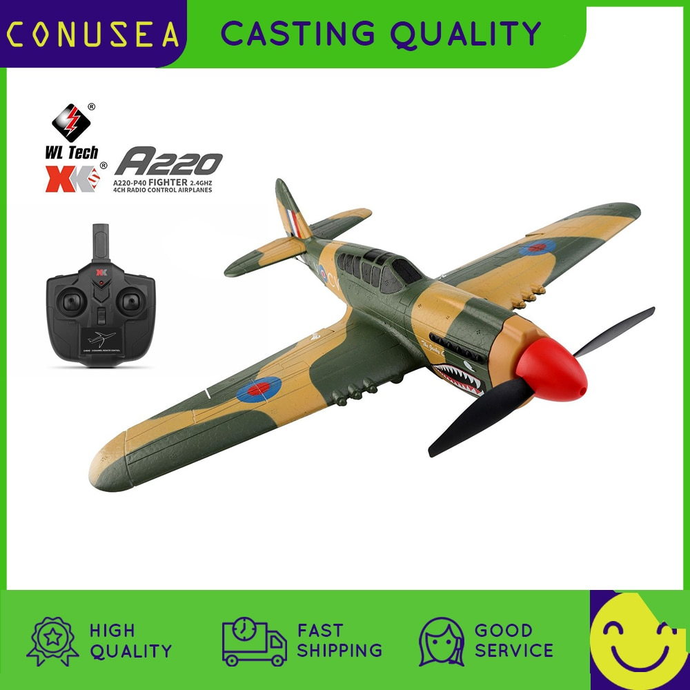 Wltoys RC Plane XK A220 P40 4Ch Glider Airplane remote control aircraft 384 Wingspan 6G/3D Stability Electric helicopter boy toy