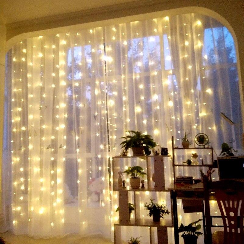 3m x 3m 300 luces LED De cortina decoración De Año Nuevo adornos navideños para el hogar natural Arvore De Natal decoración De Navidad