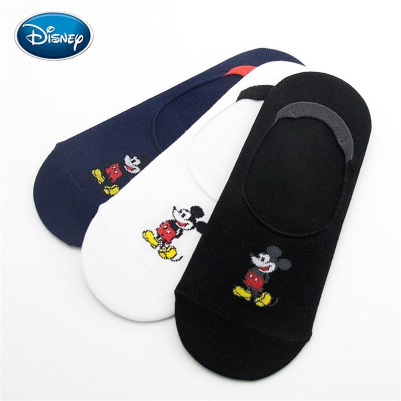 Disney Women Summer Cartoon Cotton Thin Boat Socks Creative Casual Cotton Funny Mickey Socks for Female Cute Kawayi Girl