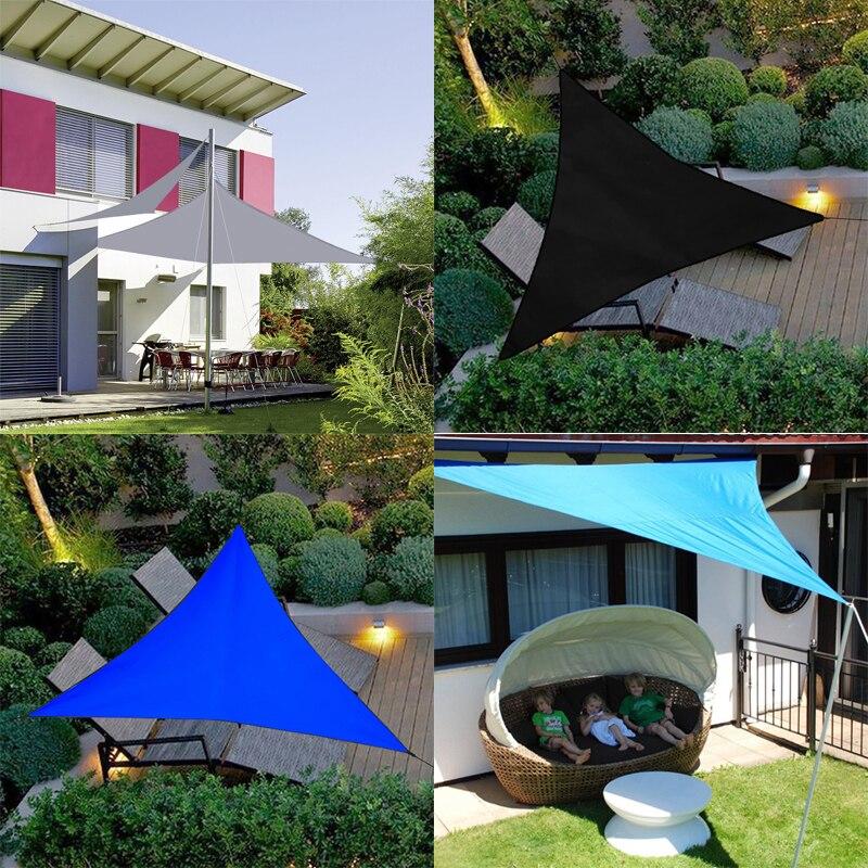 مظلة خارجية مثلثة ، معطف واق من المطر ، مظلة خارجية ، حديقة ، فناء ، مسبح ، تخييم ، قماش كبير ، رمادي