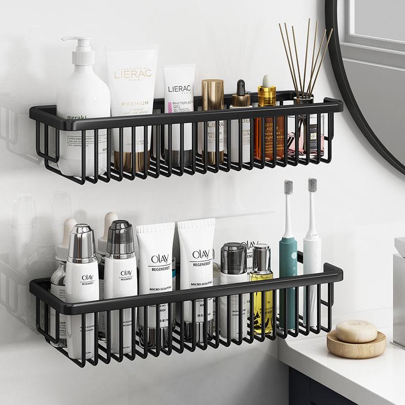 لكمة خالية مزدوجة الغرض الحمام الجرف سبائك الألومنيوم الحائط تخزين الرف الشامبو و هلام الاستحمام تخزين الرف الملحقات