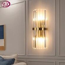 Youlaike cristal LED moderne applique murale Design créatif or décoration de la maison luminaire chambre couloir applique murale lampe
