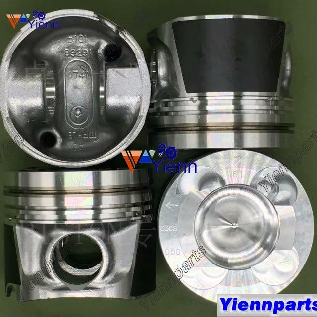 YD25 YD25-DI-T Поршень с штифтом и зажимами STD A2010-EB70A A2010-EB71A для Nissan Navara Запчасти для дизельного двигателя