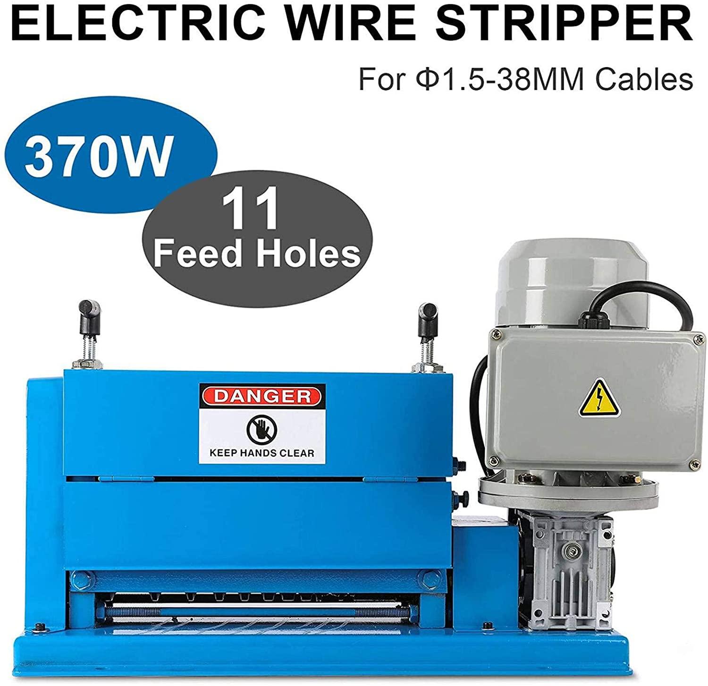 الأسلاك النحاسية تجريد آلة الكهربائية متعددة حفرة آلة قشر الكبول الأزرق متجرد 220 فولت HXSMS-038