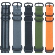 20mm 22mm 24mm Universal Five Ring Nylon Watch Strap NATO Fabric Nylon Watch Band Woven Watchband