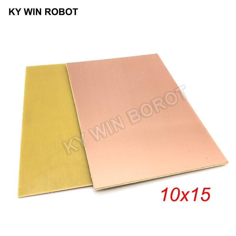 1 шт. FR4 PCB 10*15 см односторонняя медная плакированная пластина DIY PCB Kit ламинатная печатная плата 10x15 см 100x150x1,5 мм