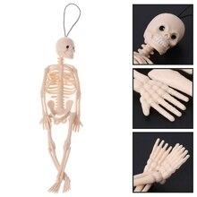 1Pc Skeleton Menschlichen Modell Schädel Voll Körper Mini Figur Spielzeug Telefon Aufhänger Halloween