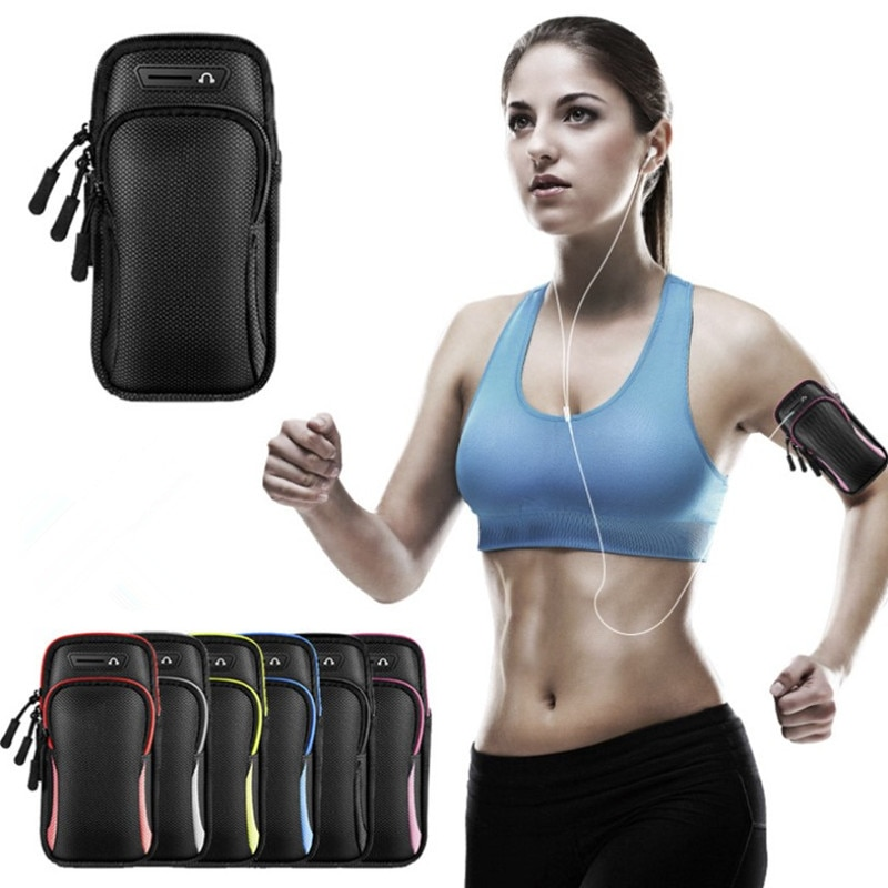 6 inch sports jogging gym armband running bag arm wrist band hand mobile phone case holder bag outdoor waterproof nylon hand bag Waterproof Sport Armband Bag Running Jogging Gym Arm Band Mobile Phone Bag Case Cover Holder for iPhone Samsung Huawei