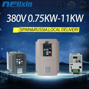 Local delivery in Spain 0.75kw-11kw VFD Frequency Inverter 380v three phase output for motor speed control converter