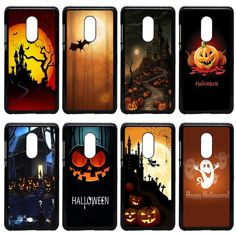 Funda dura para teléfono móvil calabaza Halloween murciélago bruja Boo para Xiaomi Redmi 3X Mi 6 5 5S Plus Note 4X 2 3 3S 4 Pro Prime Shell