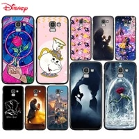 silicone cover beauty and the beast for samsung galaxy j8 j7 duo j6 j5 prime j4 plus j3 j2 core 2018 2017 2016 phone case