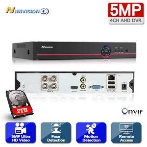 NINIVISION 4CH 5MP 6-in-1 AHD Digital Video Recorder 2560*1920P Super HD DVR  USB 3G WIFI Motion Detection H265 Cloud P2P